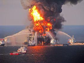 """Der Untergang der """"Deepwater Horizon"""" hat in den USA zu einem Umdenken geführt."""