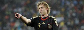 Das bisher letzte Mal: Stefan Kießling im Trikot der deutschen Nationalelf - am 10. Juni 2010 bei der WM in Südafrika. Das DFB-Team gewann in Port Elizabeth die Partie um Platz drei mit 3:2.
