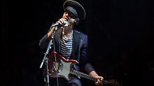 Pete Doherty, Frontman und Gründer der Babyshambles, bei einem Konzert in Paris.