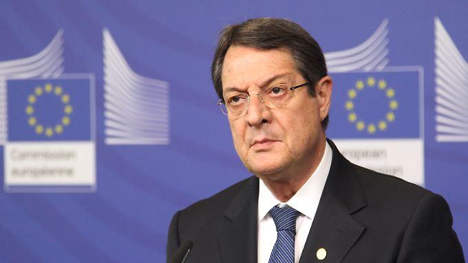 Zyperns Präsident Nikos Anastasiadis.