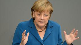 Die Kanzlerin ermahnt die SPD.