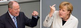 """Merkel und Steinbrück im letzten Duell: """"Aussitzerin"""" trifft """"Schreihals"""""""