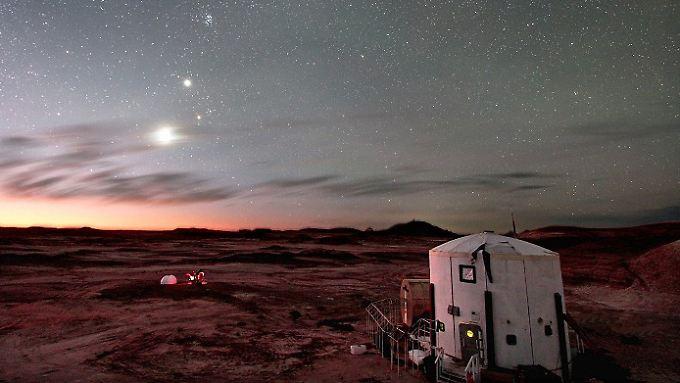 In der Wüste von Utah, USA, simuliert eine Crew der Europäischen Raumfahrtorganisation Esa das Leben auf dem Mars: abgeschnitten von jeder Versorgung, auf sich allein gestellt, isoliert.