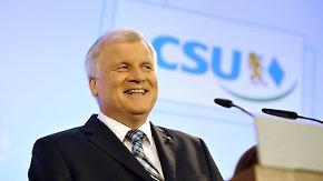 """Union hofft auf Rückenwind aus Bayern: Seehofer will """"auf dem Teppich bleiben"""""""