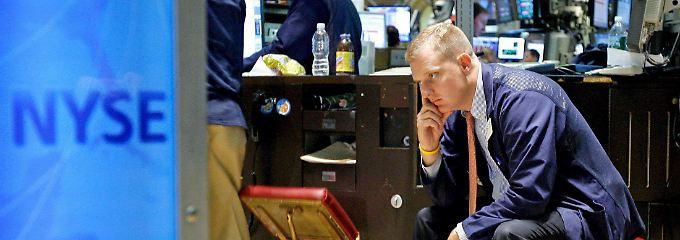 Niedergeschlagenheit an der Wall Street vor fünf Jahren.