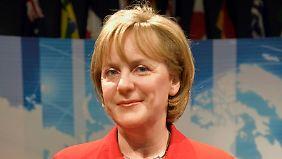 Die alte Kopie Merkels. So wird sie bald nicht mehr in dem Wachsfigurenkabinett anzutreffen sein.