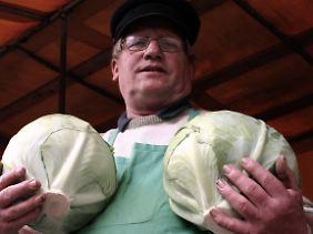 Gemüsehändler in Dithmarschen: Kohlkopp gefällig?