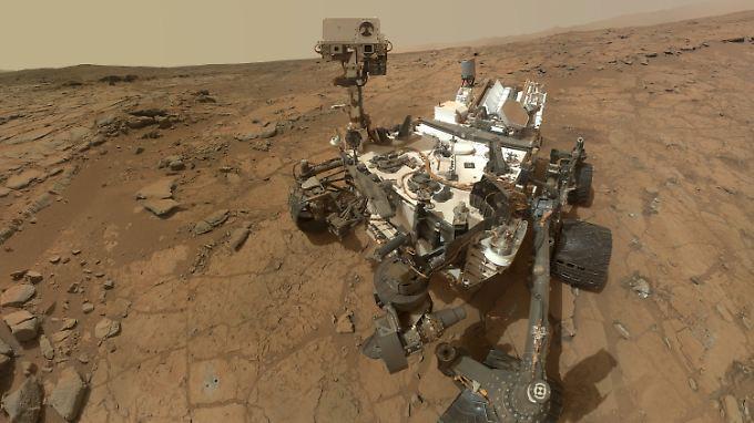 """Seit über einem Jahr auf dem Mars: Nasa-Roboter """"Curiosity""""."""