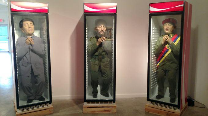 Mao Tsetung, Fidel Castro und Hugo Chávez im Kühlschrank.
