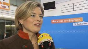 """Klöckner über möglichen Koalitionen: """"Wir sollten nichts überstürzen"""""""