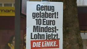 Annäherungsversuch mit Mindestlohn-Angebot: Linke buhlen um SPD und Grüne