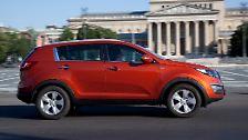 Das Schlusslicht bei den SUV gibt der Hyundai-Konzernbruder Kia Sportage mit 72,4 Punkten. Warum das so ist lässt sich kaum erklären, denn die Journalisten zeigten sich zur Markteinführung mehr als begeistert.