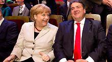 Gabriel könnte Vizekanzler unter Merkel werden.