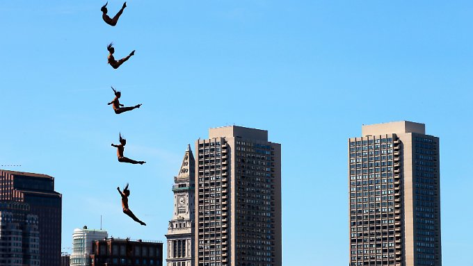 Turmspringer in Boston, Massachusetts.