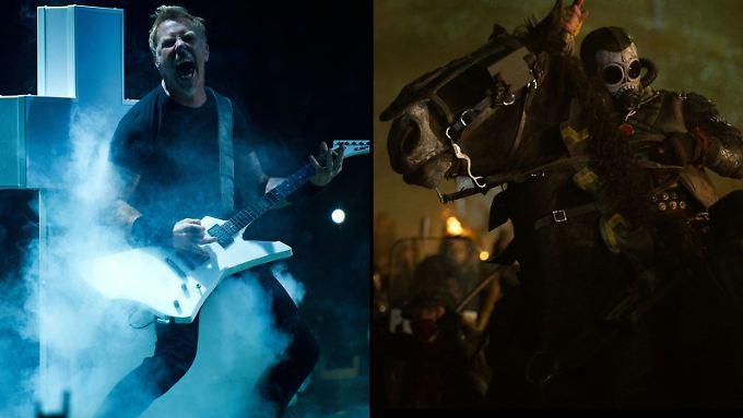 """Harte Jungs auf der Bühne und hoch zu Ross - beides gibt es in Metallicas """"Through The Never"""" zu sehen."""