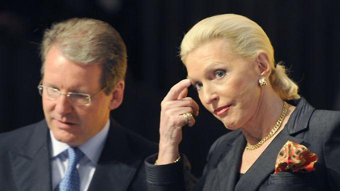 Jürgen Geißinger und Maria-Elisabeth Schaeffler während einer Hauptversammlung von Continental.