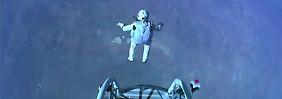 Neues Baumgartner-Video veröffentlicht: Helm-Kamera zeigt 39-Kilometer-Sprung
