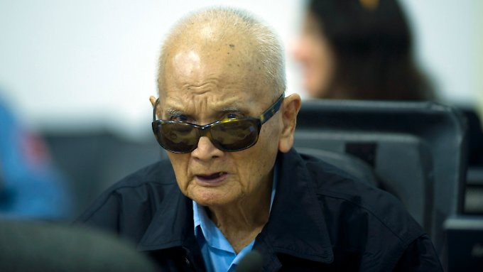 Der 87-jährige Nuon Chea war Chefideologe der Roten Khmer.
