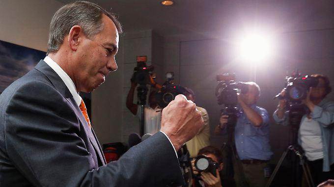 Der Kampf seiner Partei gegen die Gesundheitsreform von Präsident  Barack Obama und für eine Senkung der Staatsausgaben gehe aber weiter, sagt Boehner.