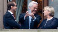 Balkongespräch unter angehenden Koalitionären: Wie es auch gewesen sein könnte