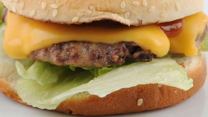Weniger Burger - weniger Fett.
