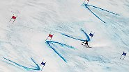 Seine Spuren im Schnee: Der US-Amerikaner Ted Ligety beim Riesenslalom in Sölden.