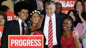 Nach zwölf Jahren Bloomberg: Demokrat de Blasio ist neuer Bürgermeister von New York