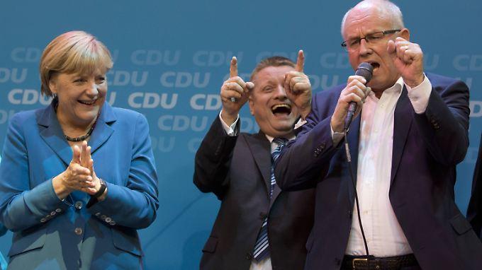 Bei der CDU herrschte am Wahlabend ausgelassene Feierlaune.