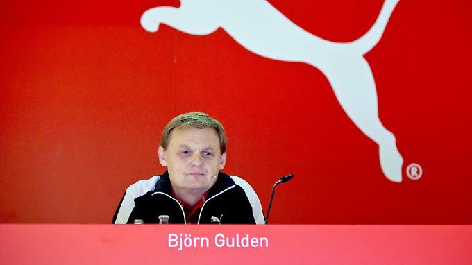 Im Trainingsanzug verkündete Puma-Chef Björn Gulden die schlechten Nachrichten.