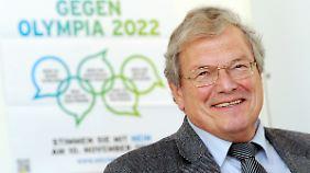 """Olympiagegner: Hubert Weiger vom BUND. Er lehnt Winterspiele in München als """"Durchsetzung einer pervertierten olympischen Idee"""" ab."""
