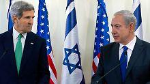 Letzter Anlauf für Frieden: Kerry hält an Nahost-Vision fest