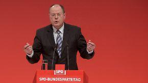SPD-Parteitag in Leipzig: Steinbrück wirbt für mehr Selbstbewusstsein
