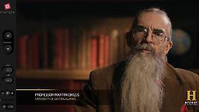 Zu Wort kommt auch der Professor einer Geschichts-Dokumentation.