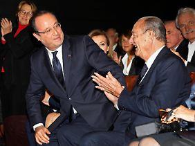 Hollande mit dem gaullistischen Ex-Präsidenten Jacques Chirac.