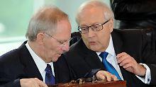 Grabenkampf zwischen Wirtschafts- und Finanzministerium.