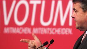 Gabriel auf Wahlkampftour: SPD-Basis bleibt skeptisch