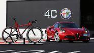 Parallel zum Sportwagen 4C hat Alfa Romeo das von dem Coupé inspirierte Leichtbau-Rennrad 4C IFD im Programm.
