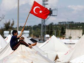 Die Bedingungen sind schlecht, doch immerhin bietet die Türkei mehr als 600.000 Syrern Schutz.