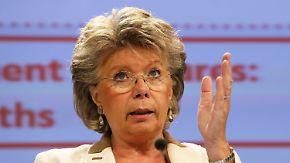 Reding schließt sich Gauck an: EU-Kommissarin erteilt Sotschi eine Absage