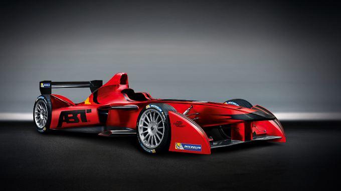 Die Formel-E-Boliden ähneln den Fahrzeugen der Indy-Car-Serie in den USA. Fahren aber völlig emissionsfrei.