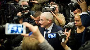 Pressekonferenz in Berlin: Chodorkowski will Oppositionelle nicht unterstützen