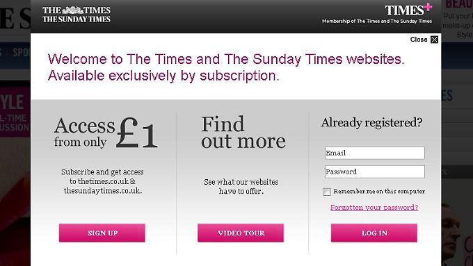 Onlinenachrichten nicht umsonst: Murdoch setzt auf Paid Content