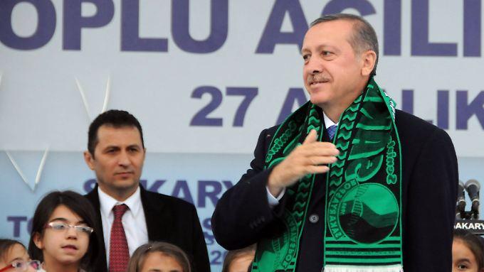 Erdogan am Freitag in Sakarya.