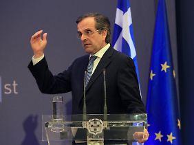 Griechenlands Ministerpräsident Antonis Samaras rechnet für 2014 mit einem leichten Wachstum.