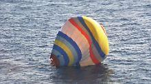 Umstrittene Inseln nicht erreicht: Chinesischer Ballonfahrer landet im Wasser