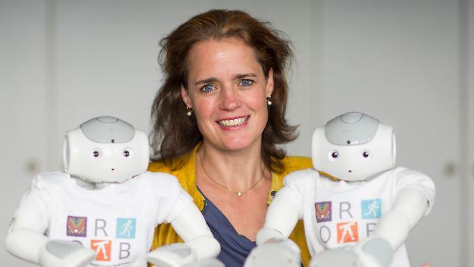 Katja Mombaur entwickelt mit 40 Wissenschaftlern menschenähnliche Roboter.