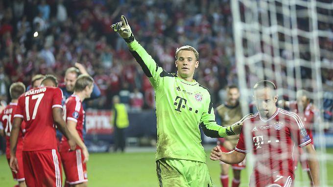 Ein sicherer Rückhalt für den Triple-Sieger: Manuel Neuer.
