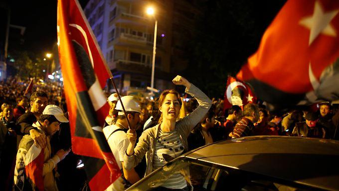 Proteste in Istanbul gegen den türkischen Ministerpräsidenten Erdogan.