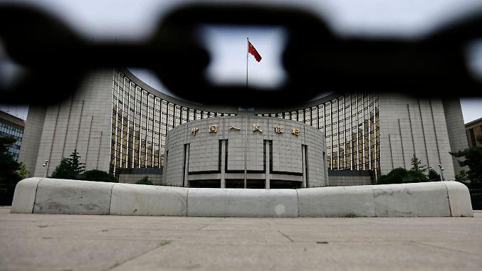 Blick auf das Zentralbankgebäude in Peking.