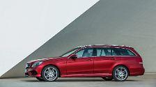 Auf Platz zwei der besten Reiselimousinen fährt der Mercedes E220 BlueTec mit Automatikgetriebe.